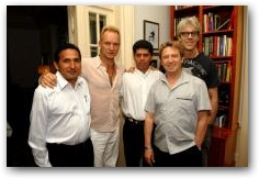 Pablo Fajardo, the lead Ecuadorian Lawyer in the case against Chevron (formerly Texaco) and Luis Yanza of the Frente de Defensa de la Amazonia met with Sting and members of The Police during the Live Earth Concerts on July 7 in New York  -> Click to enlarge